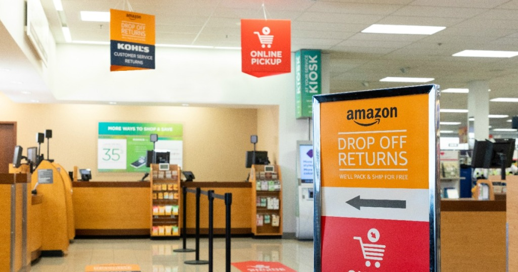 Amazon Return Area inside Kohl's Store
