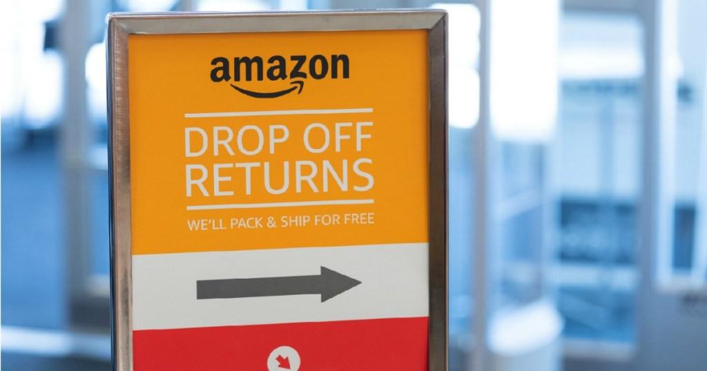 Amazon Return sign inside Kohl's Store