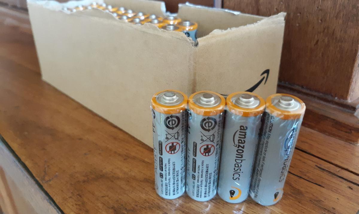 Amazon basics AA batteries