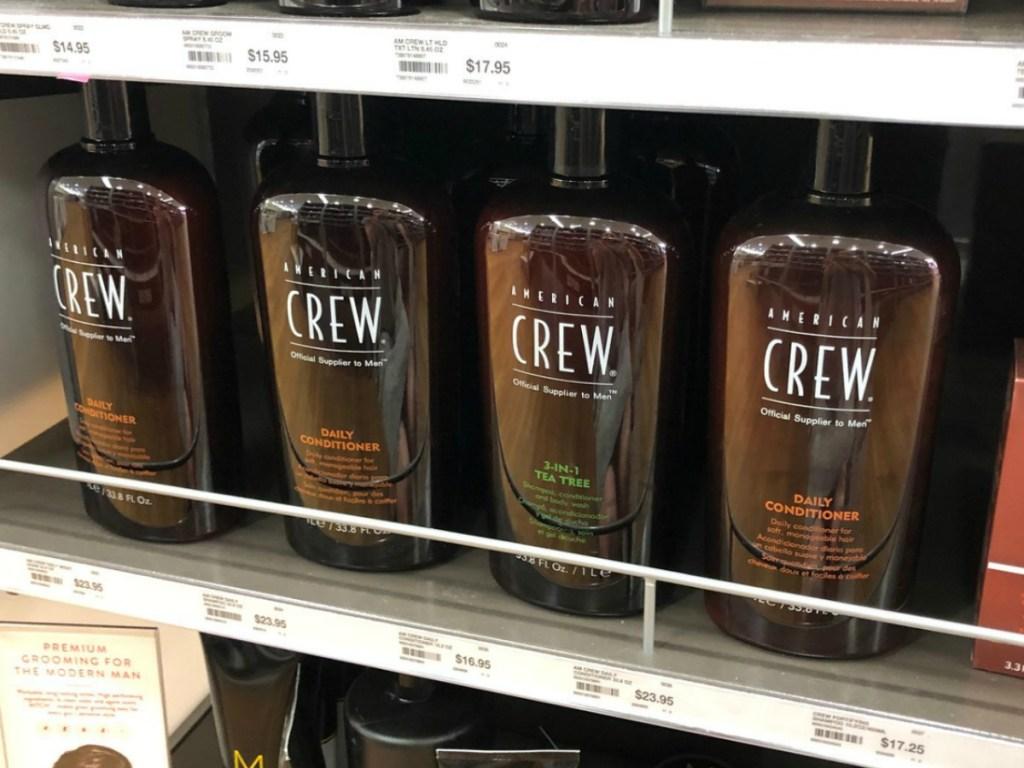 american crew conditioner on shelf