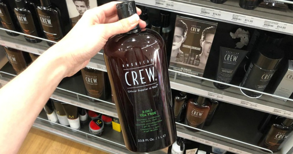 someone holding American Crew hair products at Ulta
