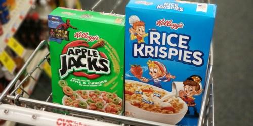 New $1/2 Kellogg's Cereal Coupon = Apple Jacks Just 84¢ Per Box at CVS