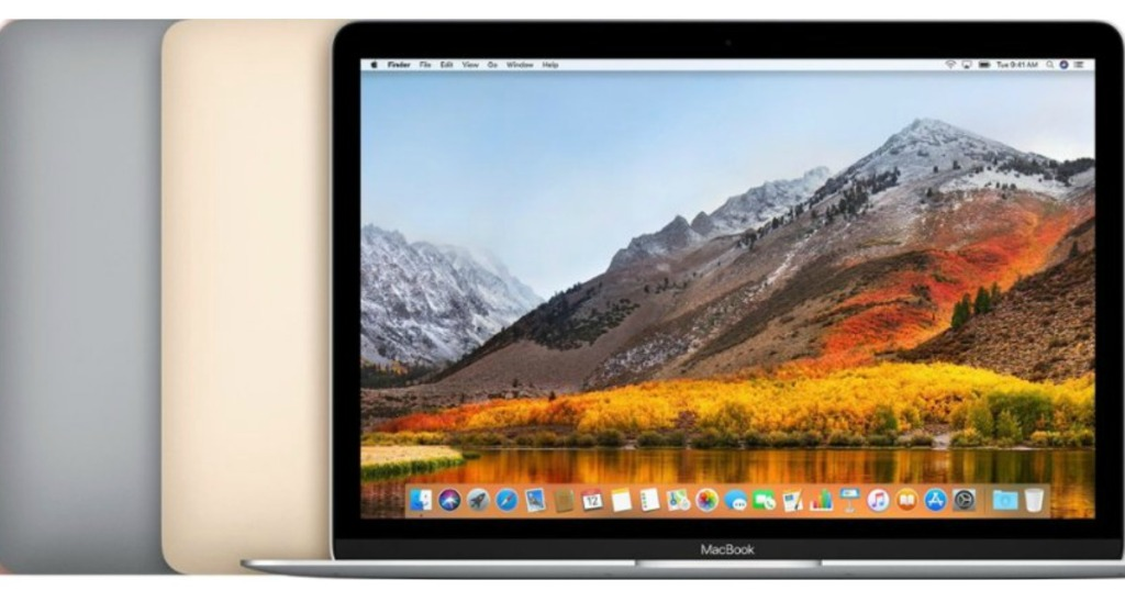 Apple MacBook Pro in silver and gold