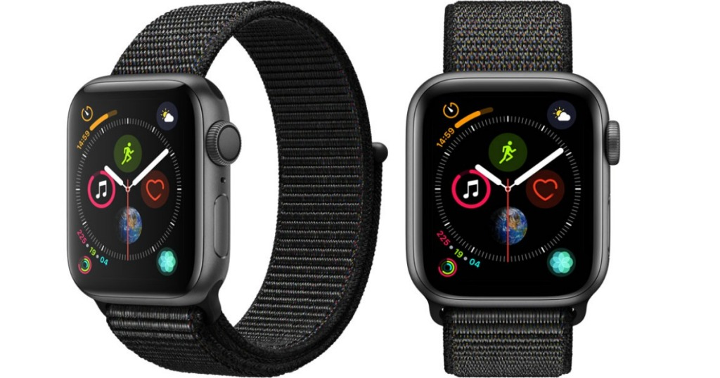 Apple Watch Series 4 front and side view