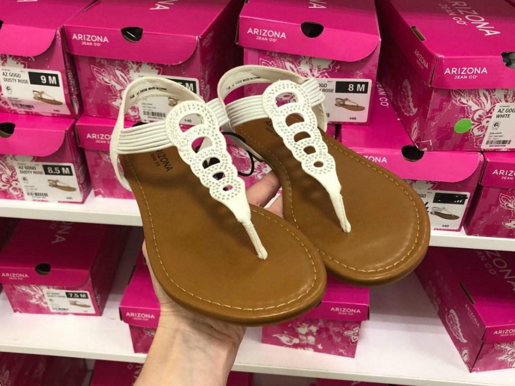 Arizona Gogo Sandals in white