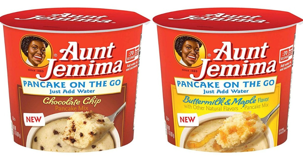 aunt jemima pancake on the go cups chocolate chip and buttermilk