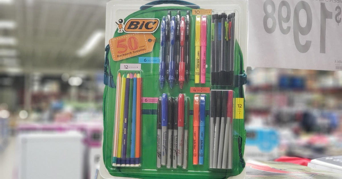 bic 50 pack school supplies sams club