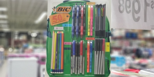 BIC 50-Count School Supplies Pack Only $6.98 at Sam's Club (Pens, Markers, & More)