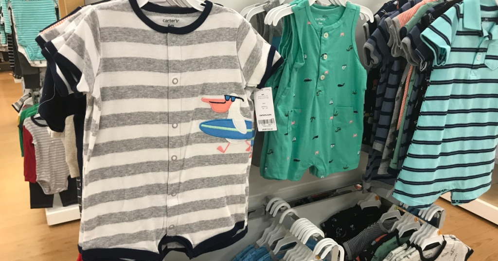 baby boys rompers at store