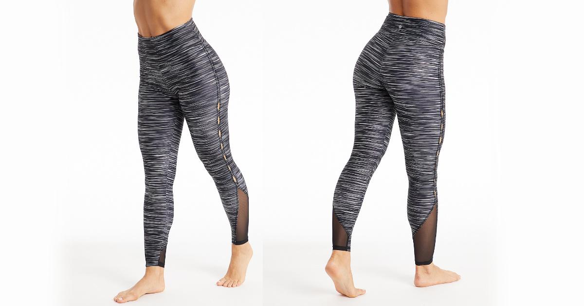 bally total fitness black remix leggings