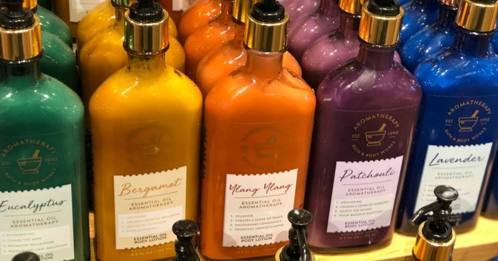 Bath & Body Works Aromatherapy products on shelf