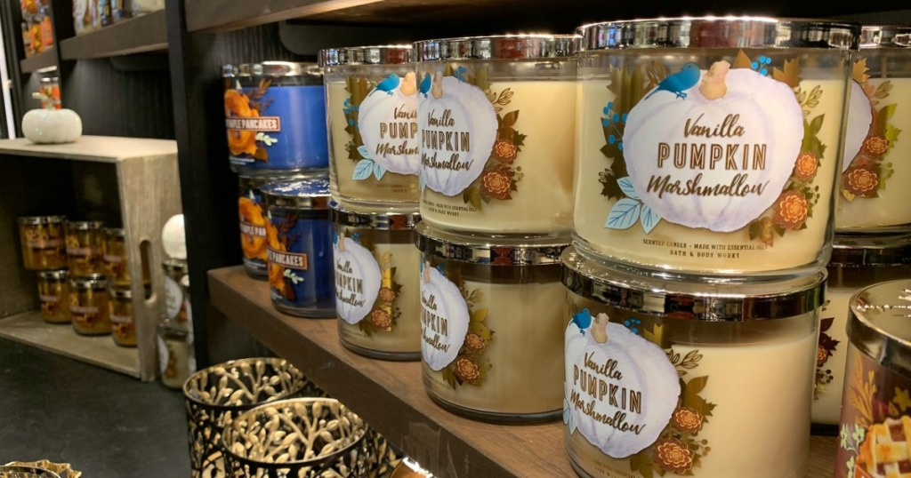 Bath & Body Works candles in-store