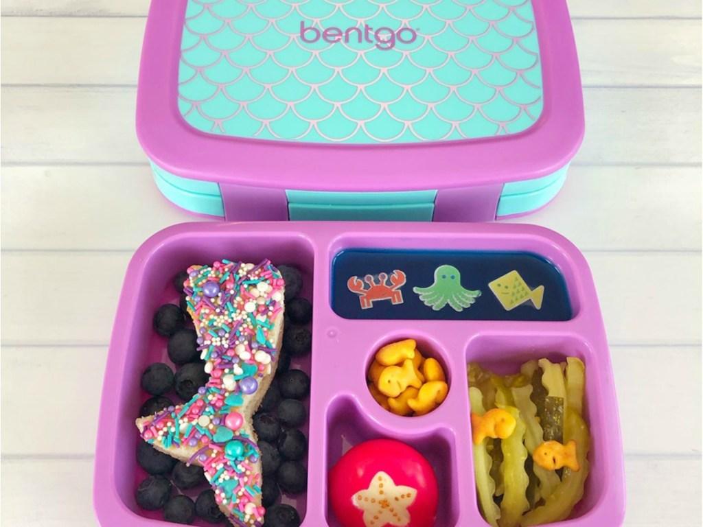 Bentgo Bento Box in mermaid pattern with fun sea-themed lunch
