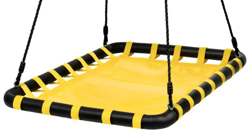 Best Choice Product Outdoor Swing in yellow