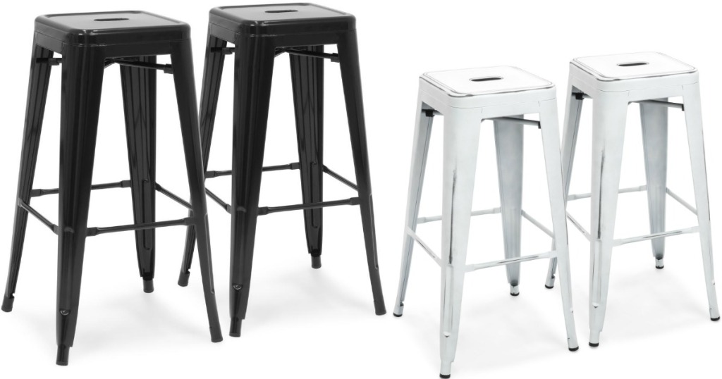 Industrial Metal Bar Stool Set Only 56 Shipped Just 28