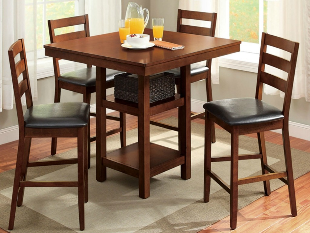 5 Piece Counter Height Dining Sets As Low As 140 41 Shipped
