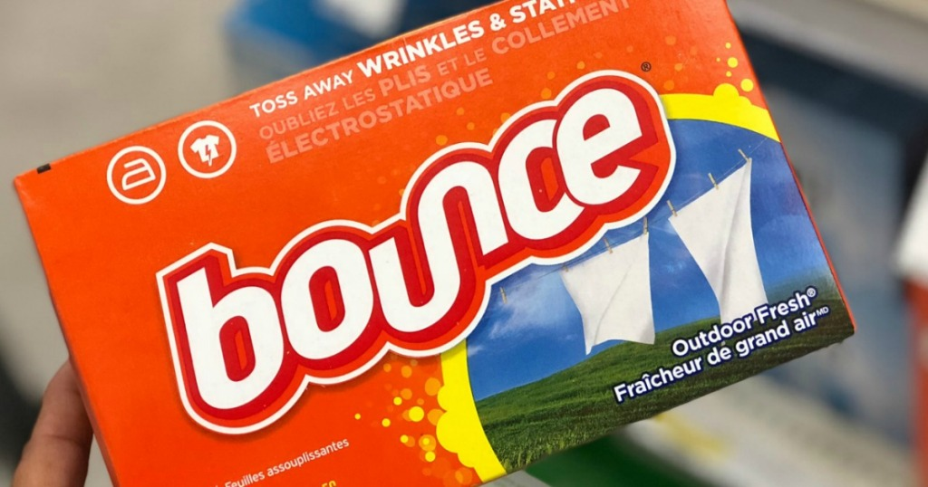 Package of Bounce Dryer Sheets in Outdoor Fresh Scent in store