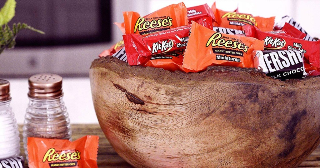 Bowl of Hershey's Candy MIX on dining table