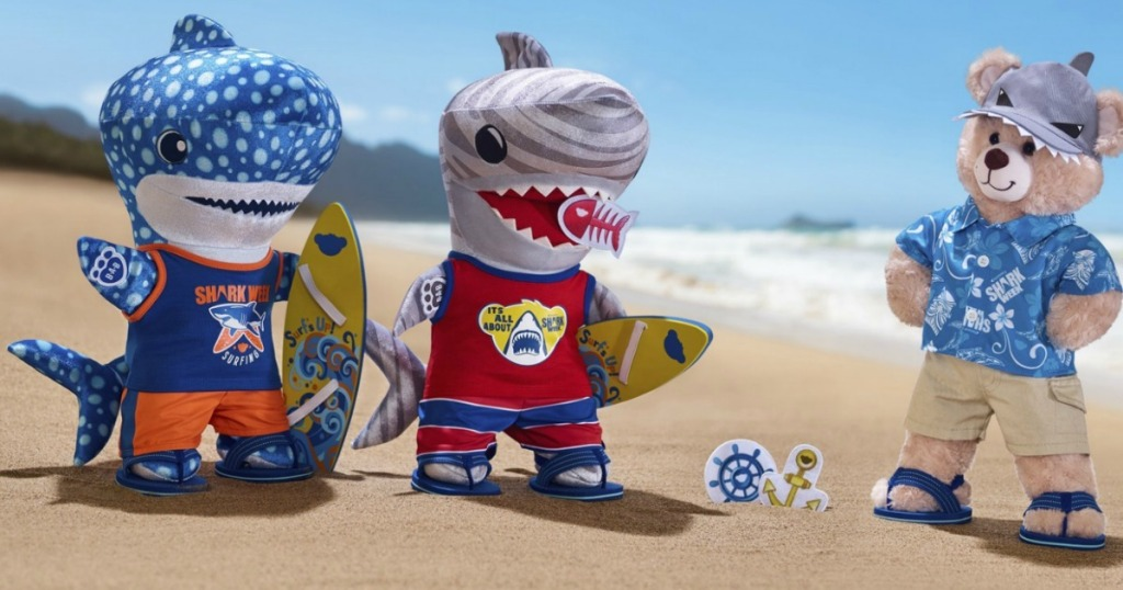 Build A Bear S New Shark Week Collection Is Jawsome And