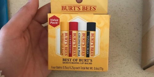 Burt's Bees 100% Natural Lip Balm 4-Pack Only $7.31 Shipped at Amazon (Just $1.83 Per Tube)