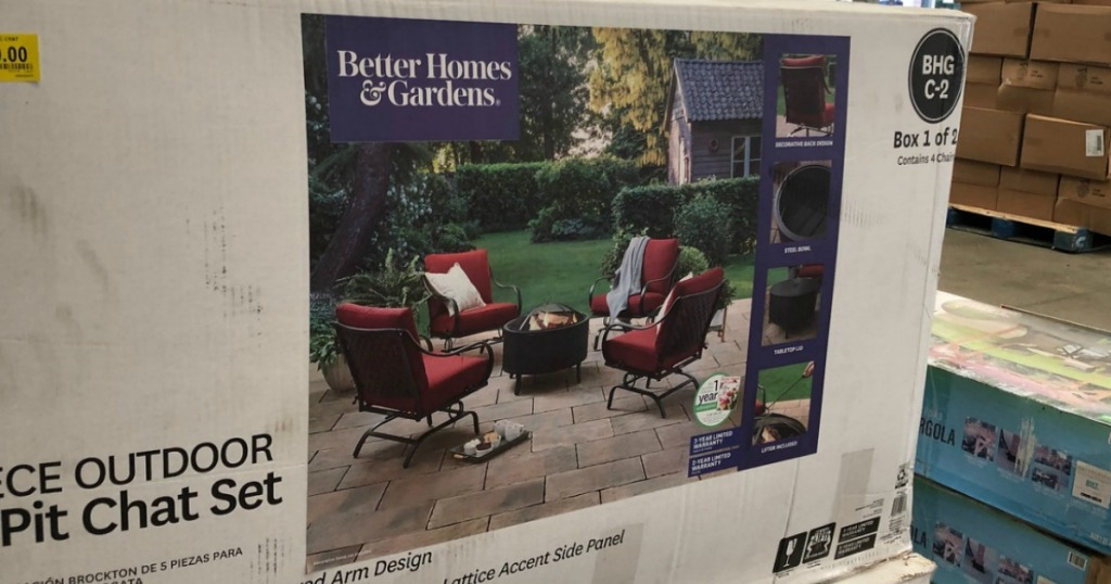 Better Homes Gardens 5 Piece Fire Pit Chat Set Only 89 At Walmart