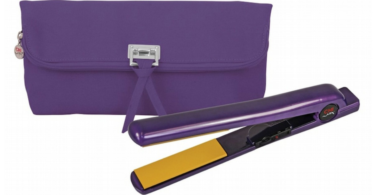 CHI Air 1'' Midnight Violet Ceramic Flat Iron & Thermal Bag Set