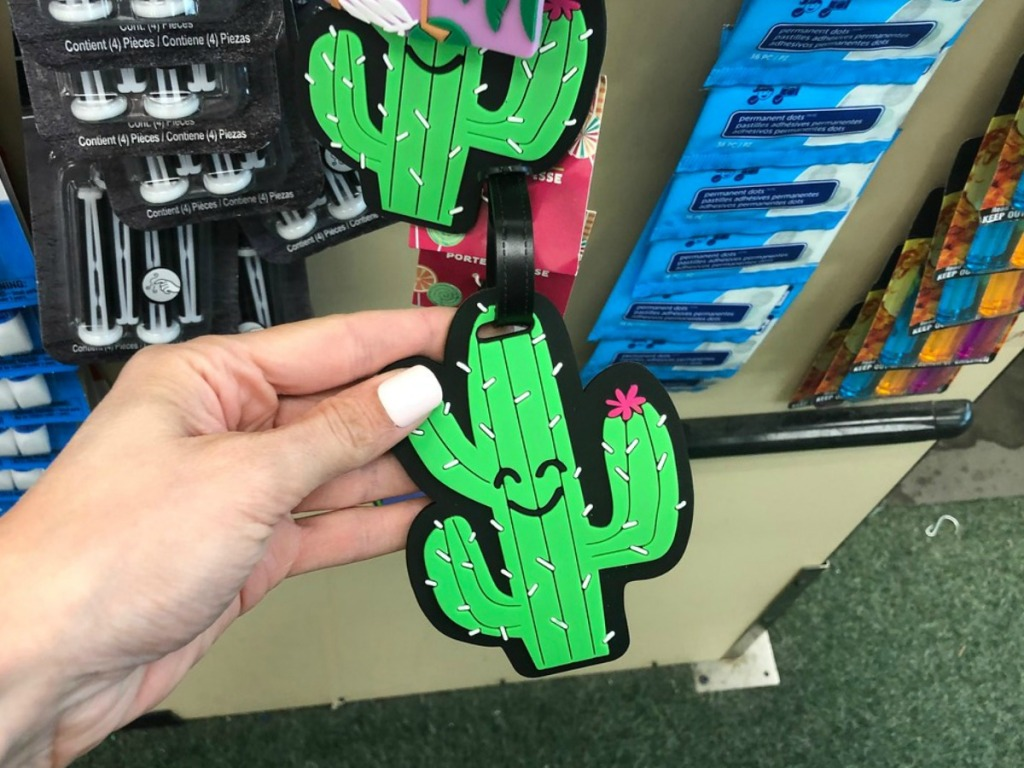 Cute Luggage TAgs at Dollar Tree