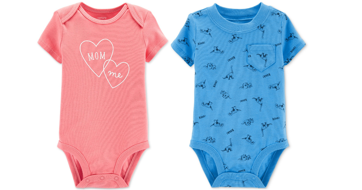 carters boys and girls baby bodysuits