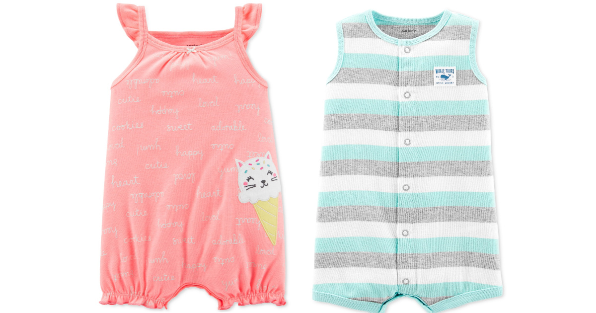carters boys and girls baby rompers