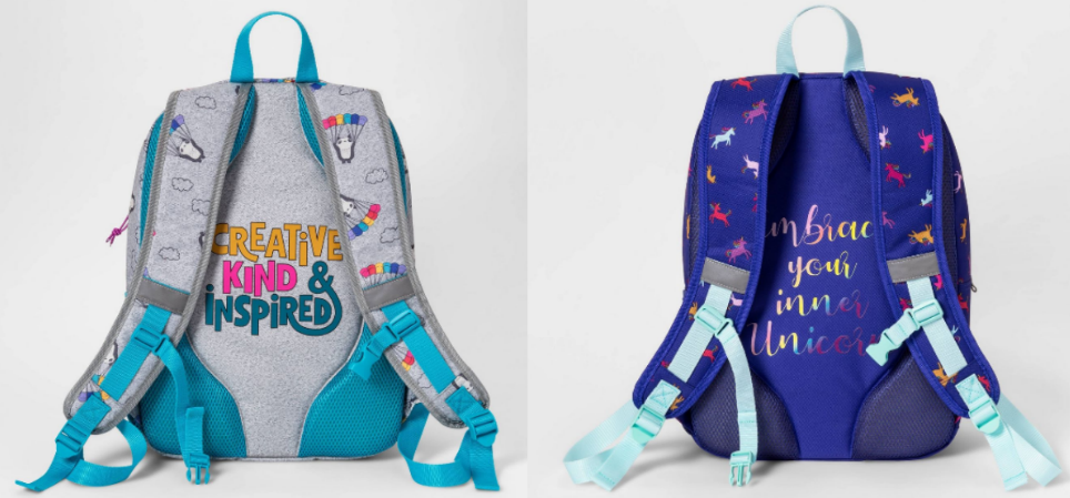 Cat & Jack Kids Backpacks with fun quotes