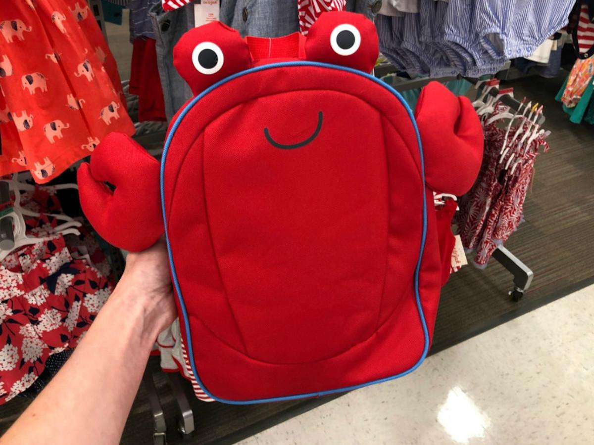 Cat & Jack Boys Crab Backpack