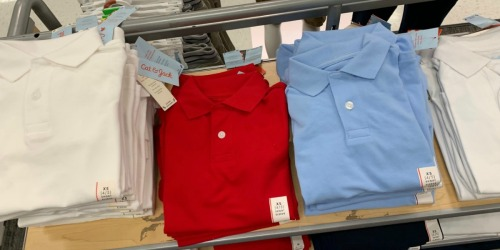 Cat & Jack Kids Uniforms from $3 at Target | Guaranteed to Last a Full Year