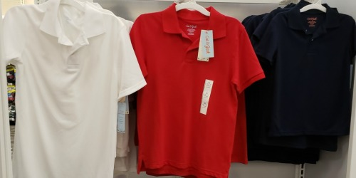 Cat & Jack School Uniform Polo Shirts ONLY $2.80 & More (Today Only)