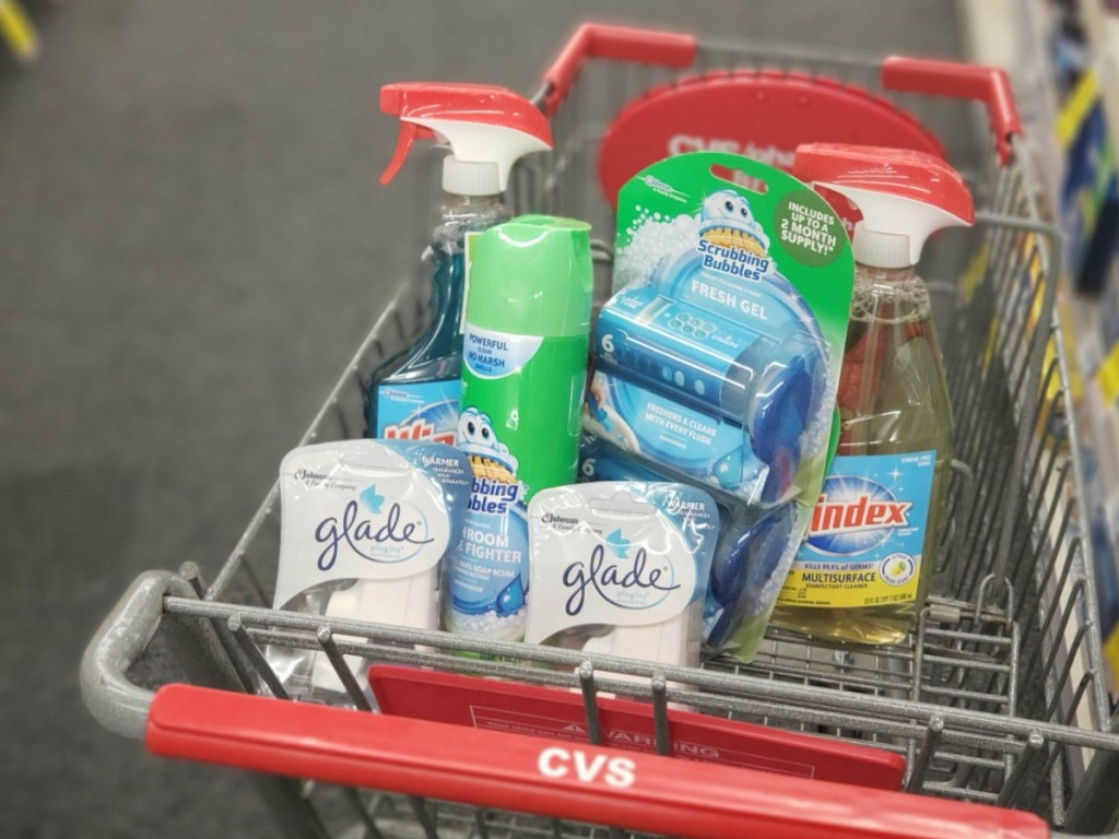 Cleaning Products in CVS cart