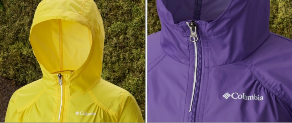 Columbia Jackets with close-up view of hood and neck