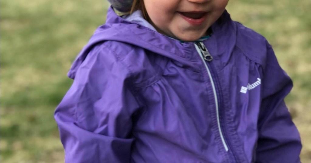 Columbia Switchback Rain Jacket on adorable little girl
