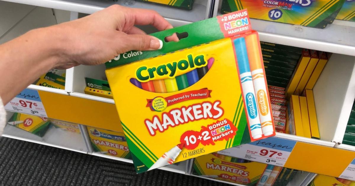 Current Back to School Deals: 50¢ Crayola Crayons, 97¢ Ticonderoga Pencils & More