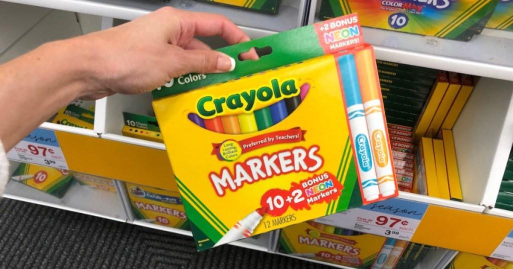 crayola 10 pack with bonus 2 markers broad tip