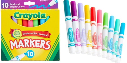 Crayola Bold & Bright Markers 10-Pack Only 99¢ at Target