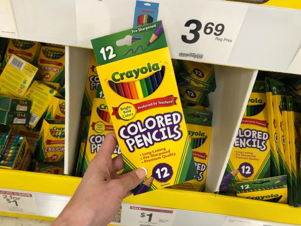Crayola Colored Pencils held in hand at store