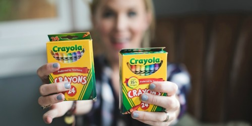 Crayola Crayons 24-Packs Only 33¢ Each at OfficeDepot.com + More School Supply Deals