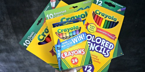 Save on School Supplies at Staples – 50¢ Crayola Crayons, Elmer's Glue & More