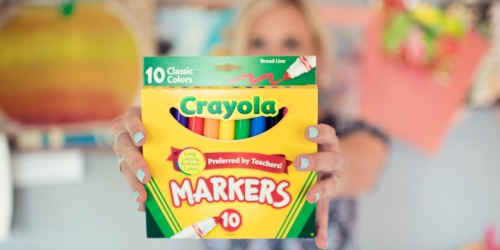 Crayola Markers 10-Count Only 97¢ on Walmart (Regularly $3)