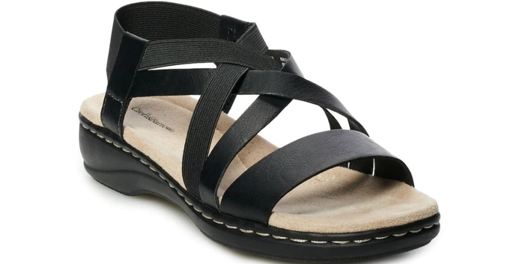 Croft Barrow Ida Strappy black sandals