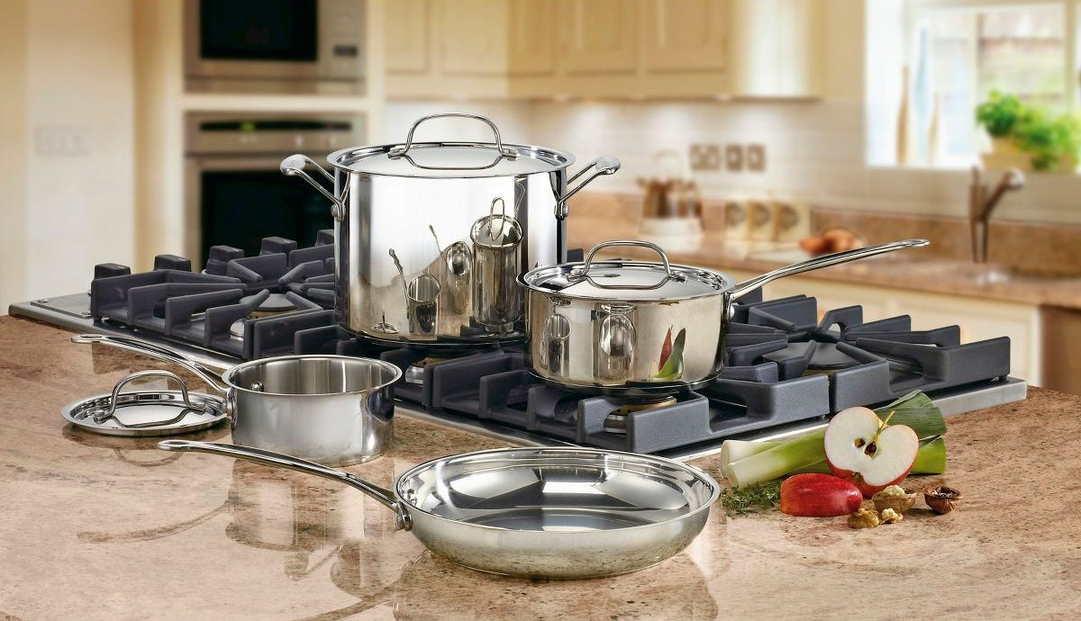 Stainless Steel pans on stove