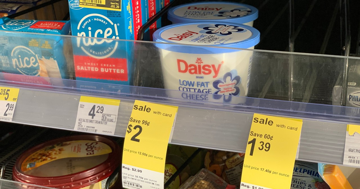 daisy cottage cheese on shelf at walgreens