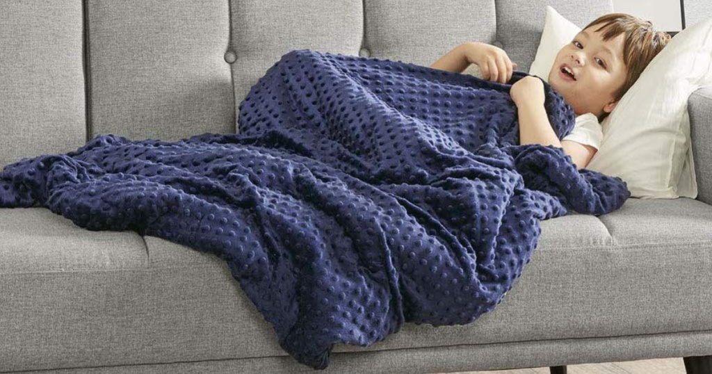 blue degrees of comfort weighted blanket