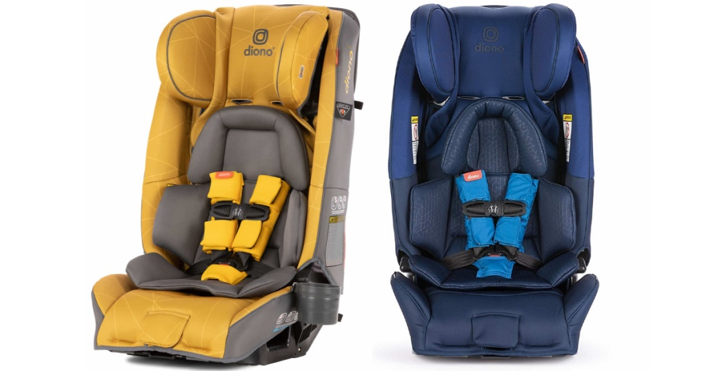 diona radian yellow and blue car seats