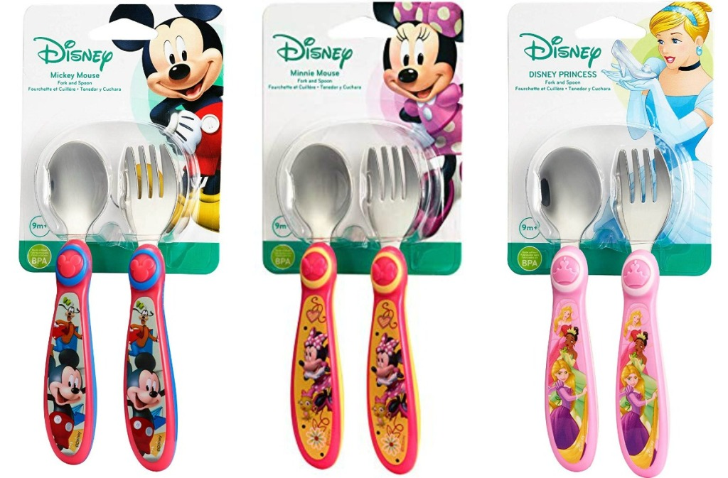 Disney Toddler Fork and Spoon Sets