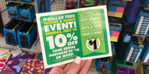 Rare 10% Off Dollar Tree Coupon (July 14th Only) = 90¢ School Supplies